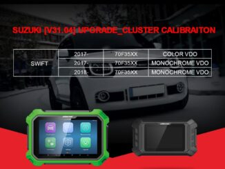 OBDSTAR Suzuki Swift mileage programming via OBD