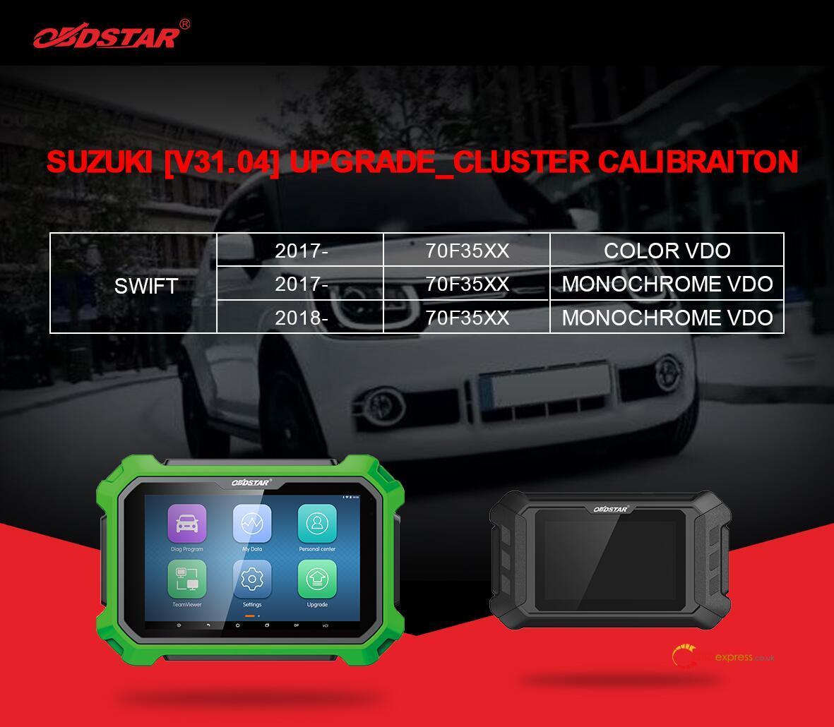 obdstar suzuki swift mileage programming 01 - OBDSTAR Suzuki Swift mileage programming via OBD - OBDSTAR Suzuki Swift mileage programming via OBD