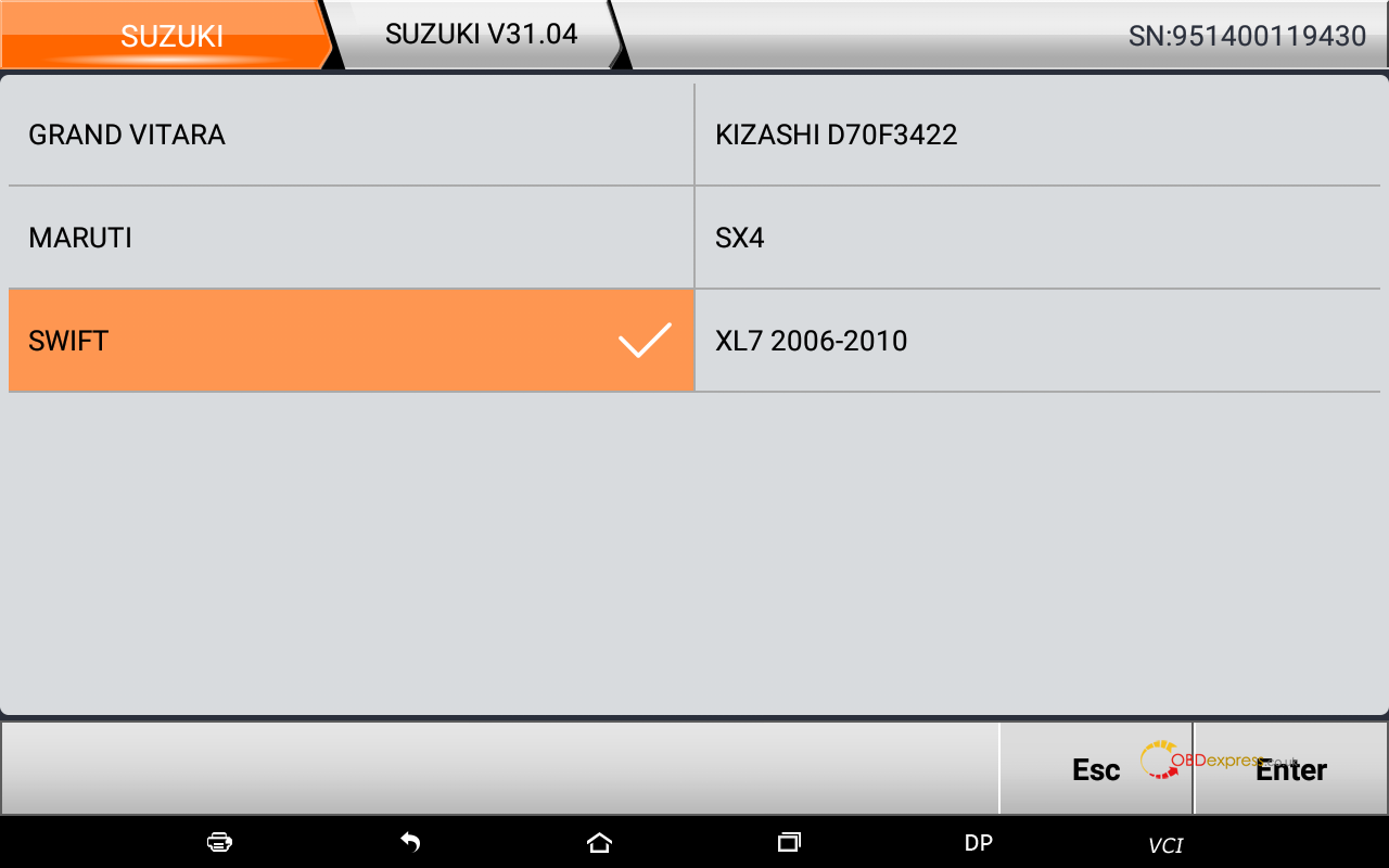 obdstar suzuki swift mileage programming 10 - OBDSTAR Suzuki Swift mileage programming via OBD -