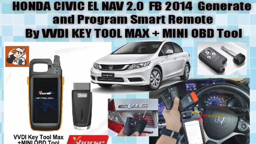 vvdi key too max min obd program honda civic 01 - VVDI Key Tool Max + Mini OBD program Honda Civic: perfectly