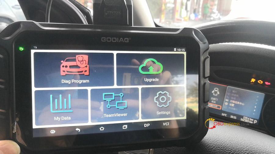 godiag gd801 2008 ford mondeo mileage correction 02 - GODIAG GD801 2008 Ford Mondeo Mileage Correction via OBD