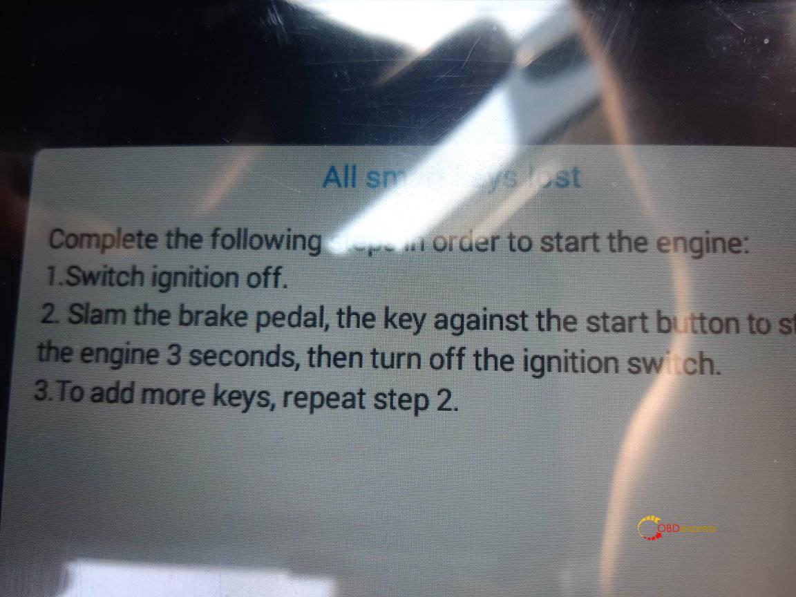 xtool pad2 mazda all smart keys lost programming 04 - Xtool X100 Pad2 Program Mazda CX-5 All Smart Keys Lost