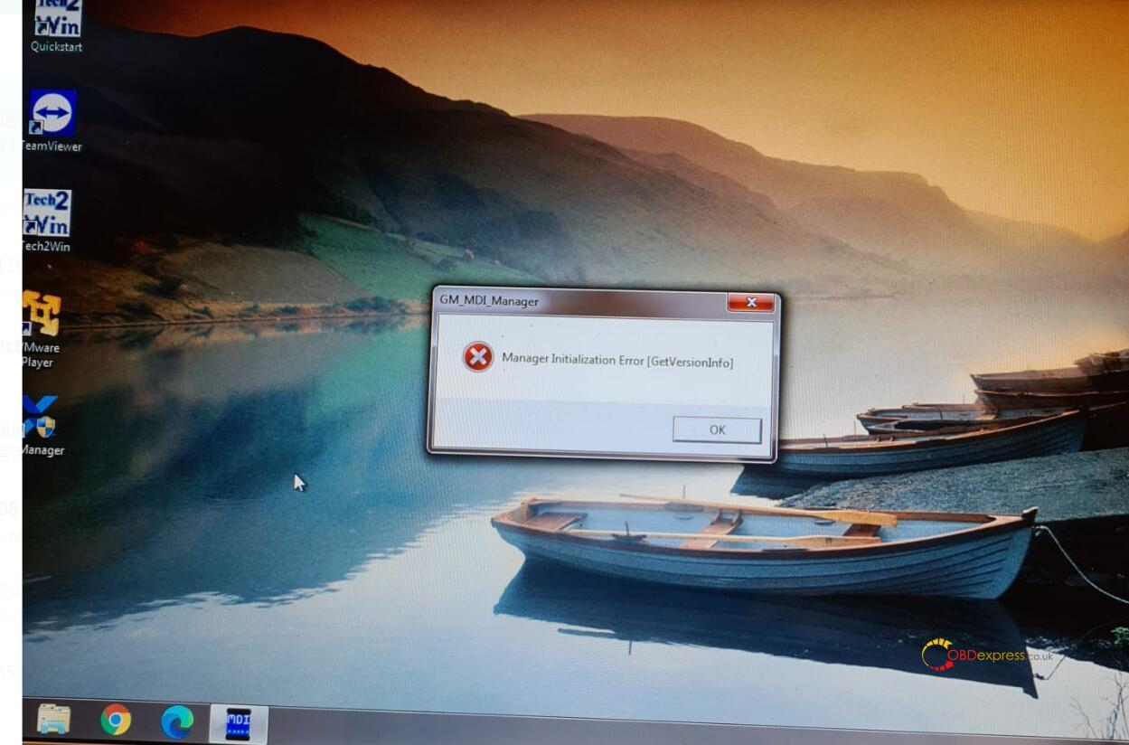 """Manager Initialization Error 1 - How to solve vxdiag gm gds prompt """"No device detected"""" - Manager Initialization Error"""
