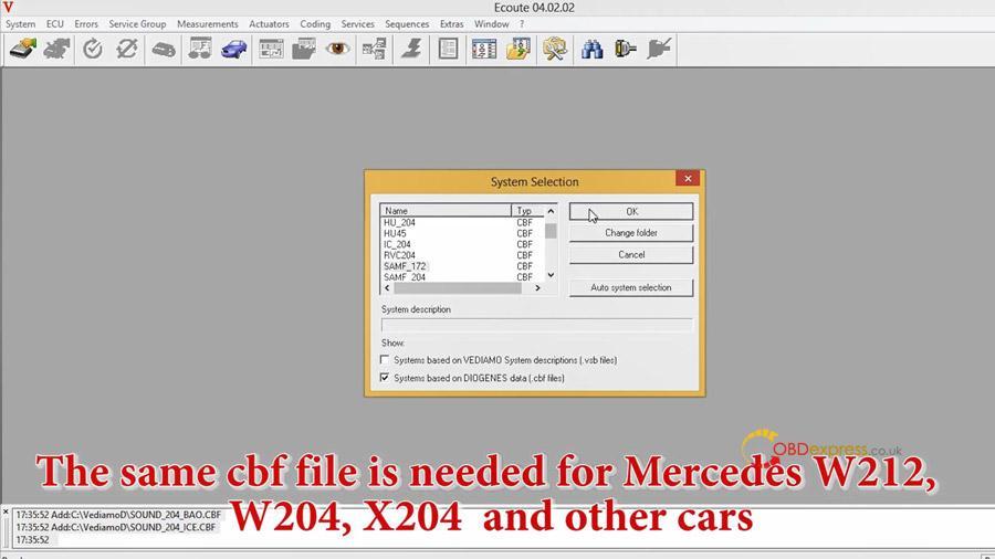 benz w212 w213 headlight coding 04 - Benz W212 W213 headlight coding with Vediamo / Autel MS908pro