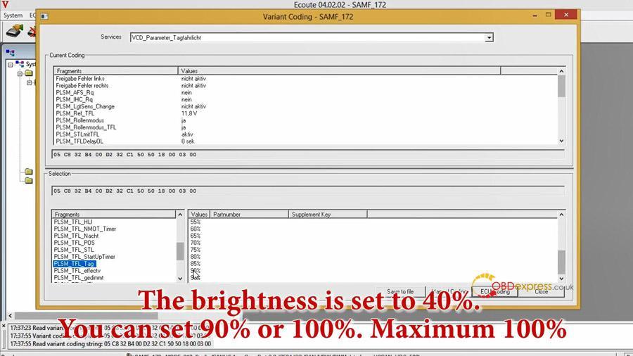 benz w212 w213 headlight coding 09 - Benz W212 W213 headlight coding with Vediamo / Autel MS908pro
