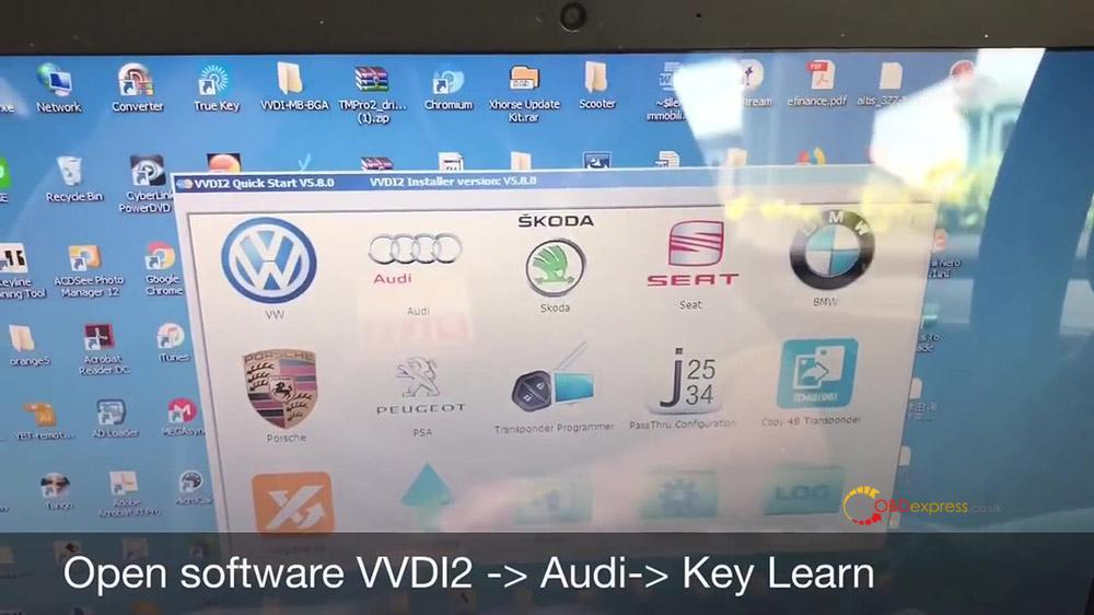 vvdi2 audi a4 2010 all key lost programming 01 - VVDI Prog and VVDI2 Program Audi A4 2010 All Key Lost -