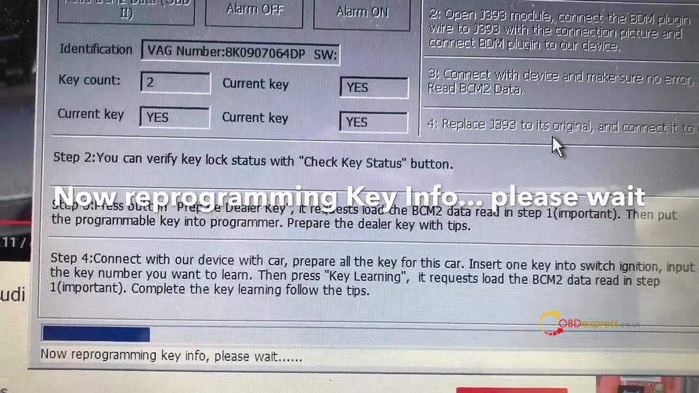 vvdi2 audi a4 2010 all key lost programming 14 - VVDI Prog and VVDI2 Program Audi A4 2010 All Key Lost -