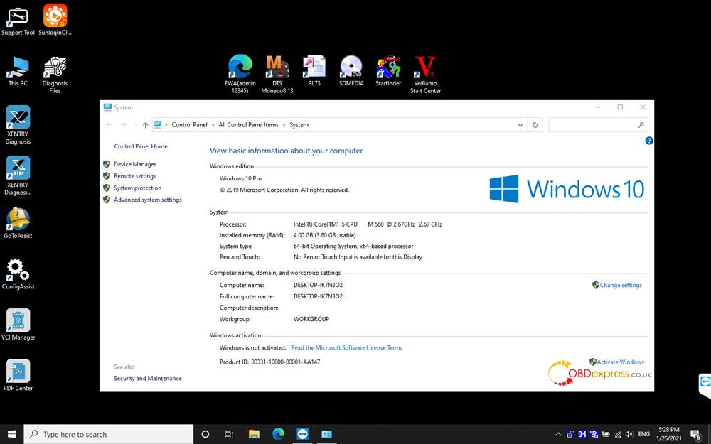 xentry 2021 03 for c4 c5 08 - SD connect C4 C5 Xentry 03.2021: Benz 2020 OK, Win10 OK -