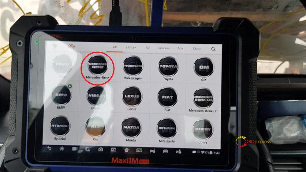 autel maxiim im608 benz test reports 01 - Autel MaxiIM IM608 IM508 Benz Coverage and Test Reports
