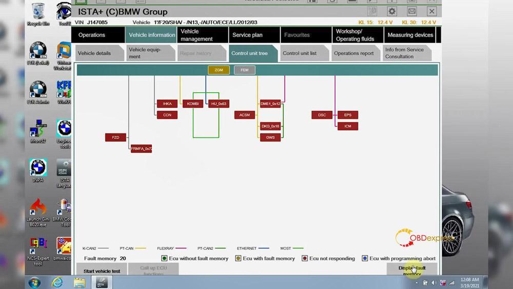 godiag v600 bm ista test 24 - GODIAG V600-BM license/firmware update, ISTA-D ISTA-P test