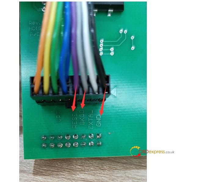 xprog m 6.12 color jump cable 05 - How to connect the Xprog M 6.12 color jump cable? -