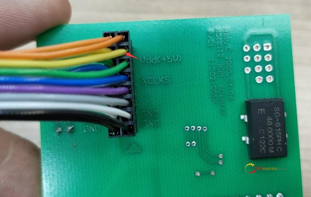 xprog m 6.12 color jump cable 06 - How to connect the Xprog M 6.12 color jump cable? - connect the Xprog M 6.12 color jump cable