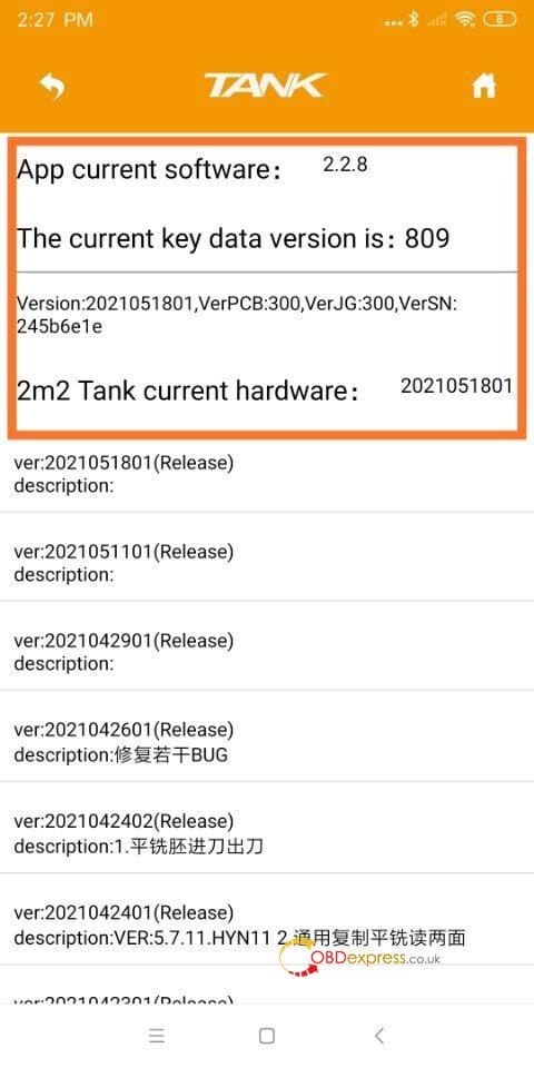 2m2 tank app 2 2 8 01 - 2M2 Tank Car Key Cutting Machine Update New APP 2.2.8 - 2M2 Tank Car Key Cutting Machine Update