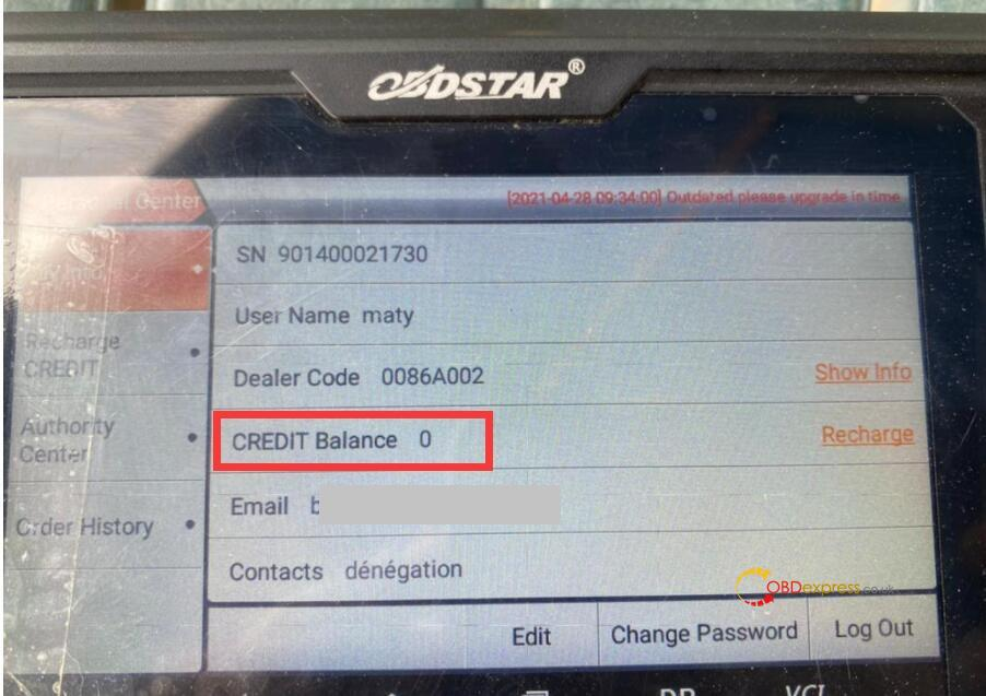 obdstar odo master credit balance 0 solution 01 - OBDSTAR ODO Master Credit Balance 0 Solution - OBDSTAR ODO Master Credit Balance 0 Solution