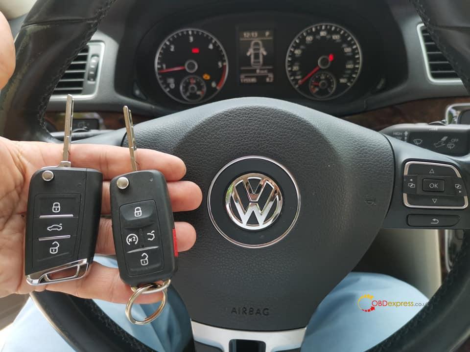 vvdi key tool plus passat b7 usa 01 - Passat b7 2015y ID48 keylessgo VVDI key tool plus add key OK -