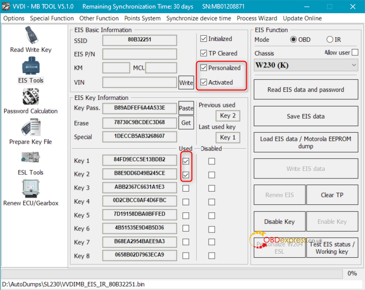 after renew vvdi mb 02 - How to renew W230 EIS with VVDI MB Tool? -
