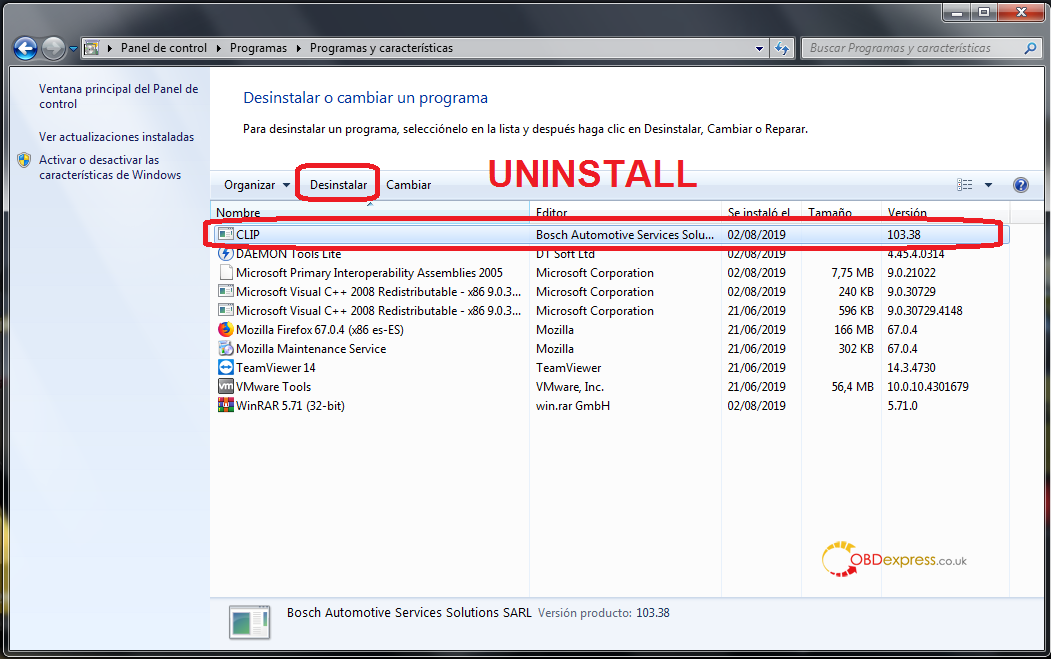 can clip uninstallation 04 - Renault Can Clip 207 206 free download, activation and installation - Renault Can Clip 207 206 activation
