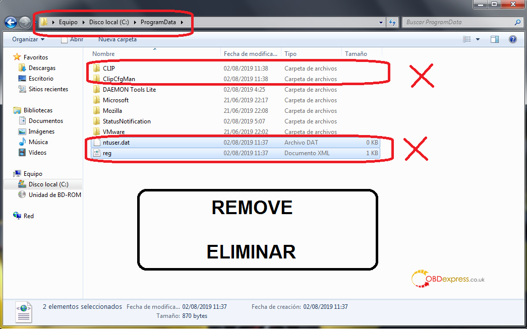 can clip uninstallation 06 - Renault Can Clip 207 206 free download, activation and installation - Renault Can Clip 207 206 activation