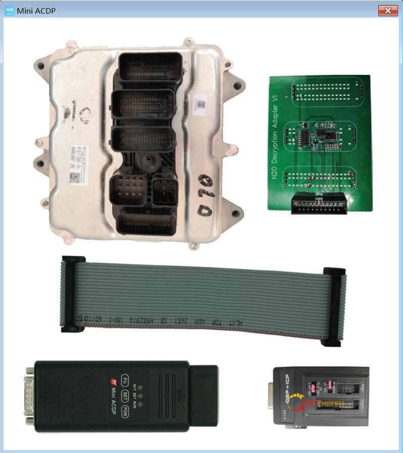 yanhua mini acdp n20 adapter 08 - Clone DME BMW F12 N63TU with Yanhua Mini ACDP - Clone DME BMW F12 N63TU with Yanhua Mini ACDP