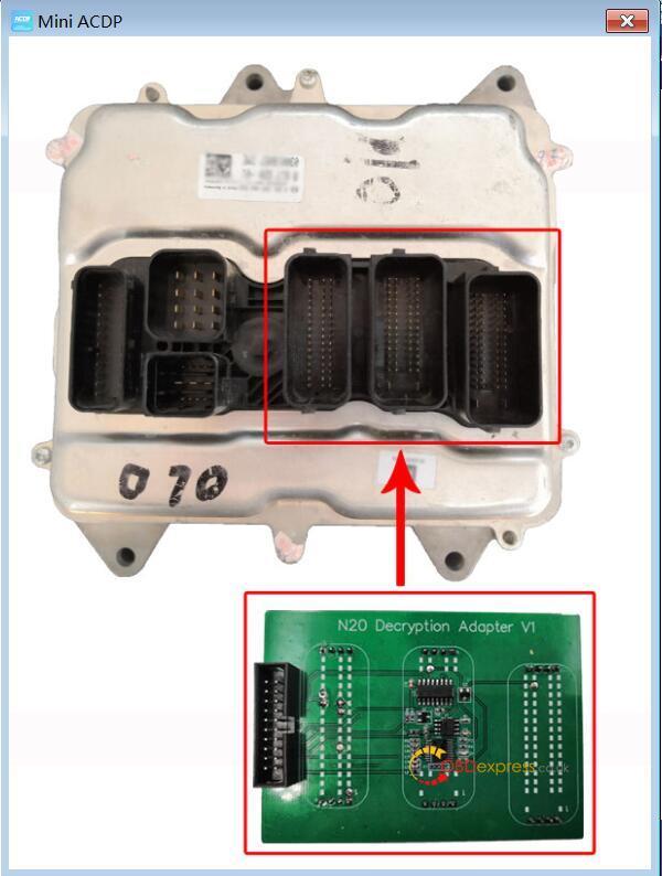 yanhua mini acdp n20 adapter 09 - Clone DME BMW F12 N63TU with Yanhua Mini ACDP - Clone DME BMW F12 N63TU with Yanhua Mini ACDP