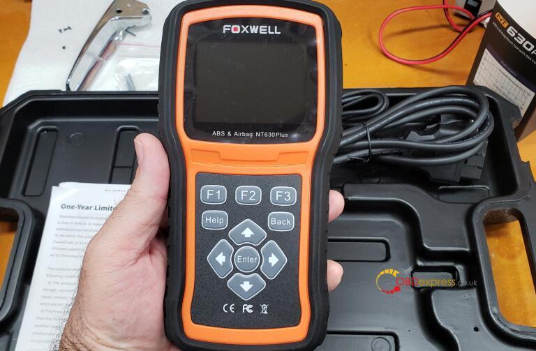 foxwell nt630 abs bleeding 02 - Reset GMC truck brake and ABS light with Foxwell NT630 Plus - Reset GMC truck brake and ABS light with Foxwell NT630 Plus
