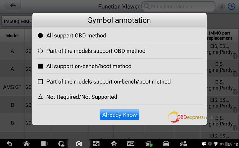 Check immo function supported or not with your vehicle 02 - How to determine if IM608 can use IMMO function in your car - determine if Autel IM608 supports your car