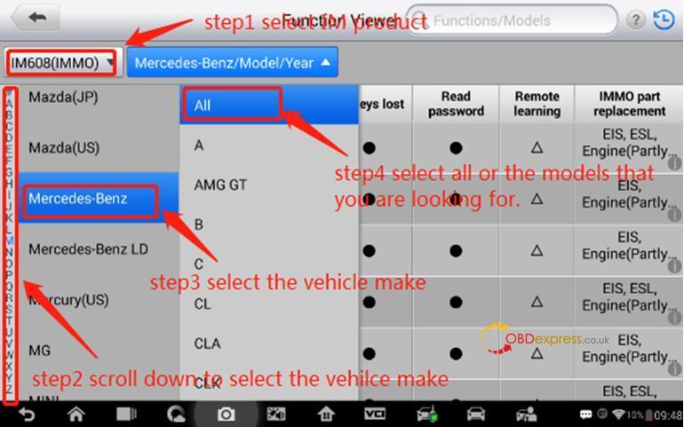 Check immo function supported or not with your vehicle 03 - How to determine if IM608 can use IMMO function in your car - determine if Autel IM608 supports your car