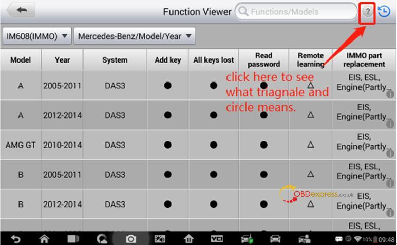 Check immo function supported or not with your vehicle 04 - How to determine if IM608 can use IMMO function in your car - determine if Autel IM608 supports your car