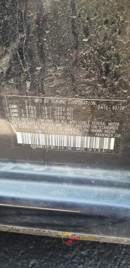 autel im608 2020 subaru impreza 04 438x900 - Autel IM608 AKL programming: 2020 Subaru Impreza - Autel IM608 AKL programming: 2020 Subaru Impreza