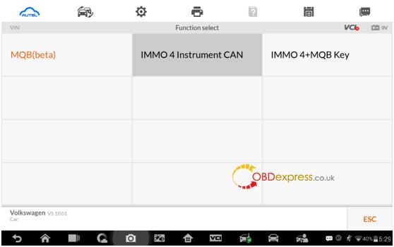 Autel IM608 MQB key programming procedure3 - Autel IM608 V5.10: IMMO IV + MQB key programming procedure - Autel IM608 MQB key programming procedure