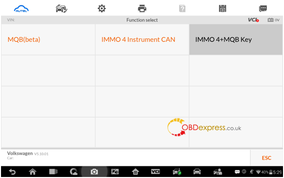 Autel IM608 MQB key programming procedure5 - Autel IM608 V5.10: IMMO IV + MQB key programming procedure - Autel IM608 MQB key programming procedure