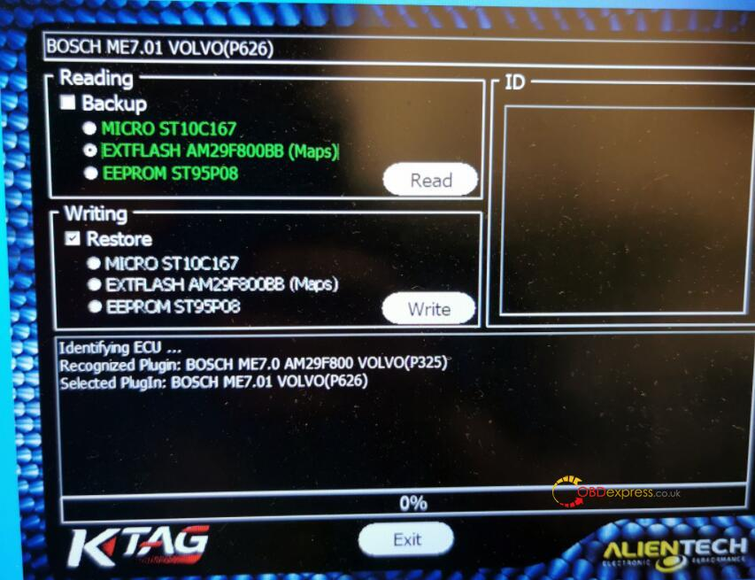 ktag software stops solution 01 - How to fix Ktag Red PCB read bosch Me7.01 software stops at 0%? - fix Ktag Red PCB read bosch Me7.01 software stops at 0