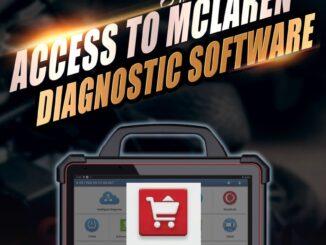 X431 PAD VII Access to MCLAREN Diagnostic Software